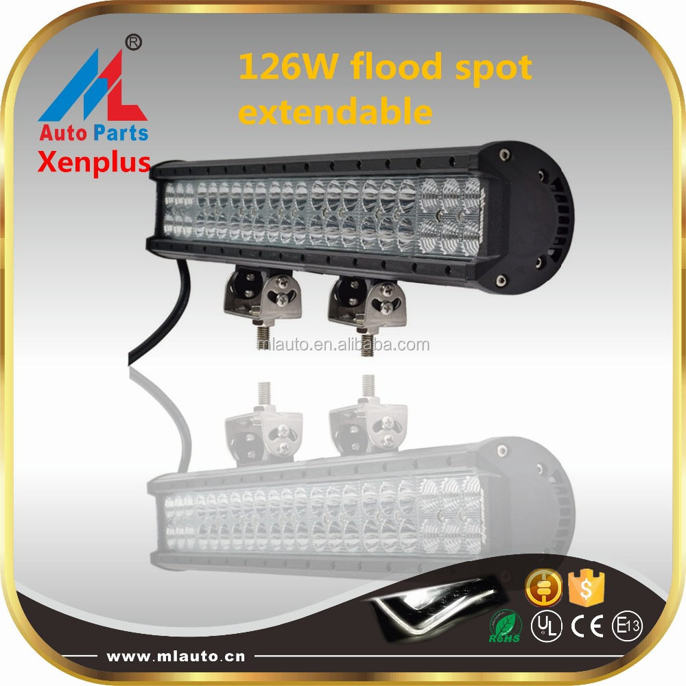 Auto 4x4 126w 20'' flood spot offroad LED light bar extrusion bar jeep truck led extendable work light
