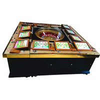 Cheap price original factory of coin operated electric gambling 12 players roulette casino games machines
