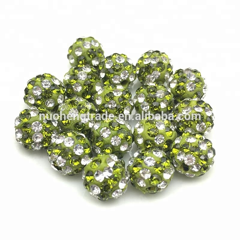 Fashion Sparkle Crystal Ball Jewelry Loose Beads Findings Crystal Disco Shamballa Beads