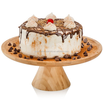 Natural Bamboo Cake Stand Wedding Centerpieces Wood Cupcake Stands
