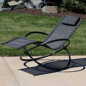 Aluminium KD shrinkable pool beach use sunbed chair sun lounger