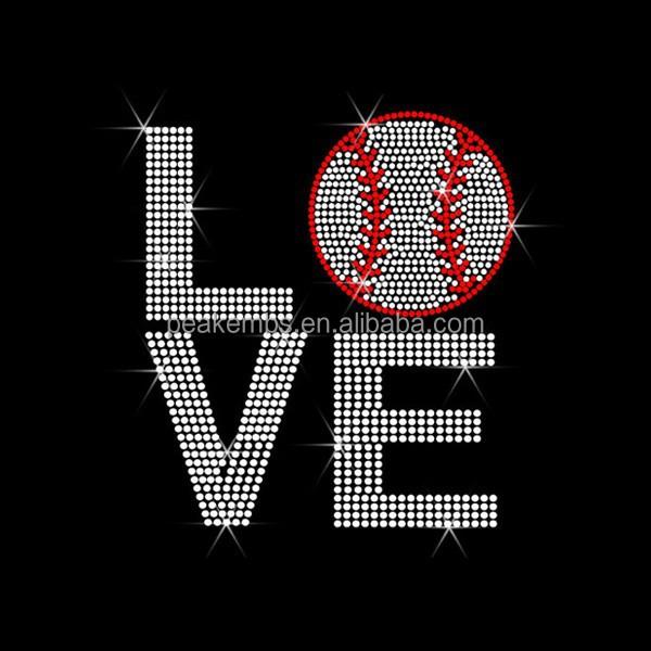 Love Baseball Strass Motif Custom Heat Transfers Rhinestone Patterns  Wholesale - Buy Soccer Custom Heat Transfers,Heat Transfers,Rhinestone  Patterns