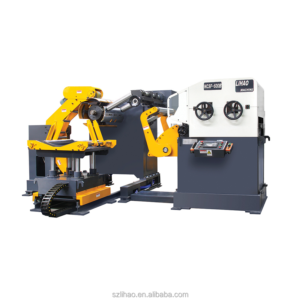 Uncoiler machine steel coil straightening machine and press feeder 3 in 1 machine