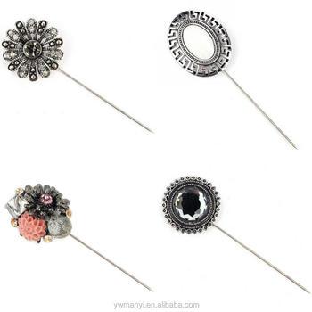 3cdf310f1c4 Retro Rhinestones crystal flowers muslim brooch hijab scarf pins brooch pins  hijab pin brooch
