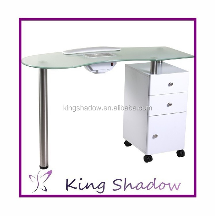 Glass Top Manicure Table- HireAbility