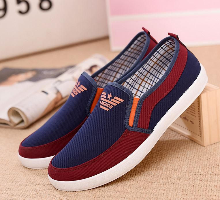 New model slip on casual men sport canvas shoes