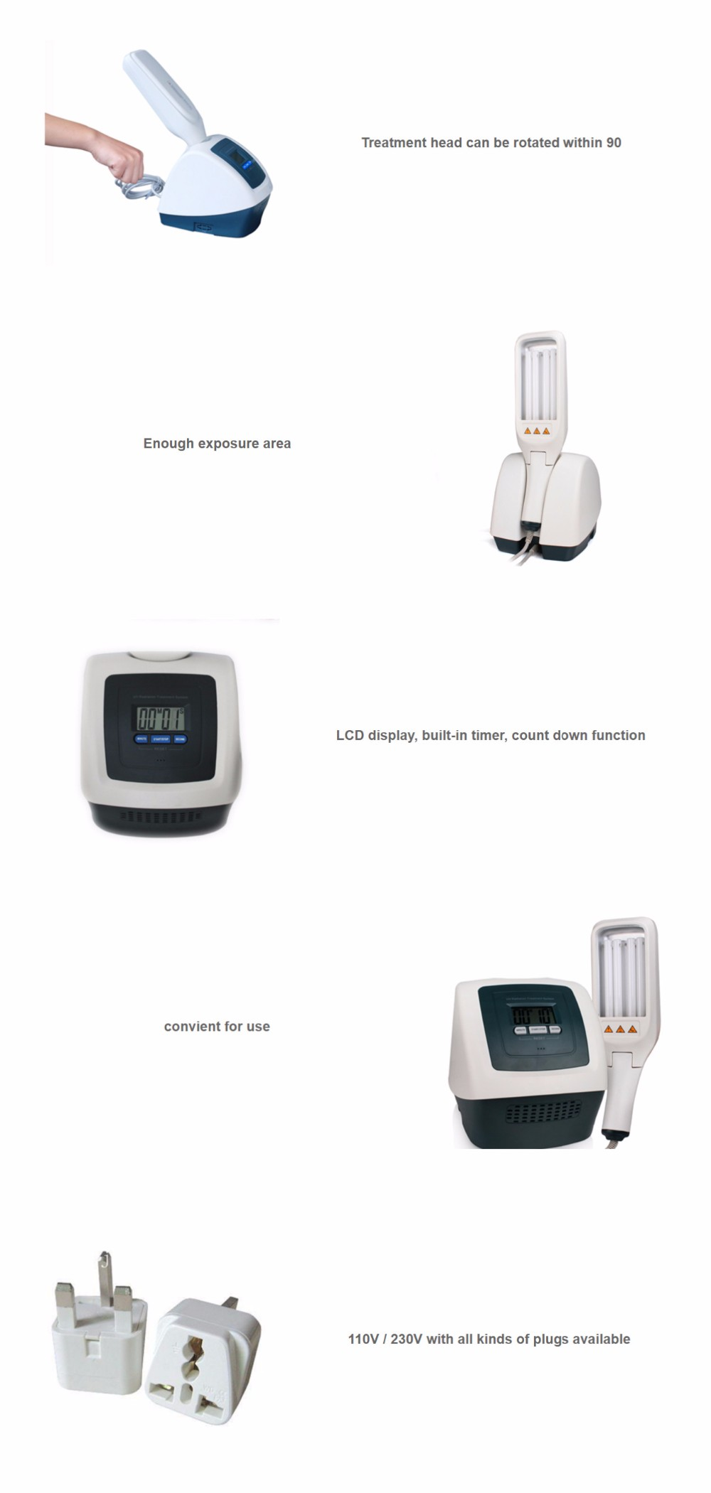 Home Use Medical Devices Led Uv Light Therapy For Psoriasis - Buy ...