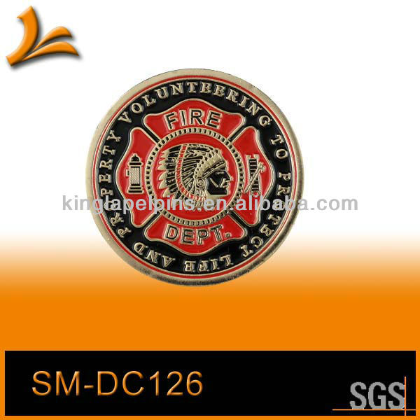 SM-CD125 American fire fighter department indian coin