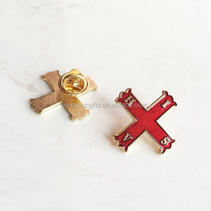 Soft Enamel Freemason Custom Masonic Lapel Pin Badge Free Masons Metal  Craft Gift Red Cross Of Constantine Pins And Brooch - Buy Custom  Pins,Masonic