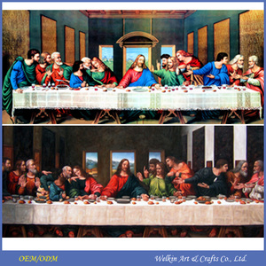 Famous leonardo painting canvas last supper da vinci paintings