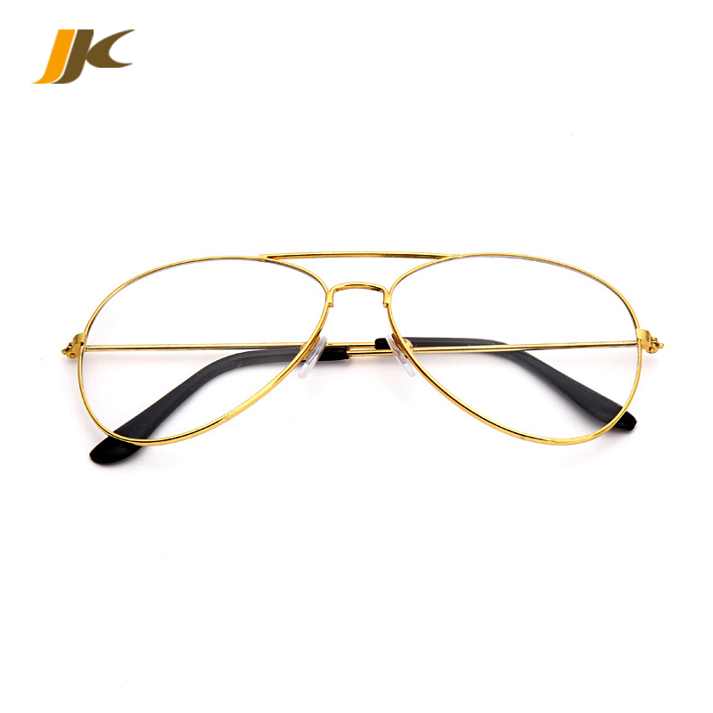 Vintage Metal Gold Frame Men Women Glasses Transparent Aviator Sunglasses Clear