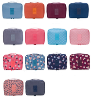 Wholesale Fashion Polyester Cosmetic Makeup Travel Boxes Wash Travel Storage Pouch Bag