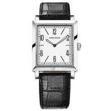 Часы Agelocer, роскошные золотые кварцевые часы из нержавеющей стали с кожаным ремешком, женские часы(Китай)