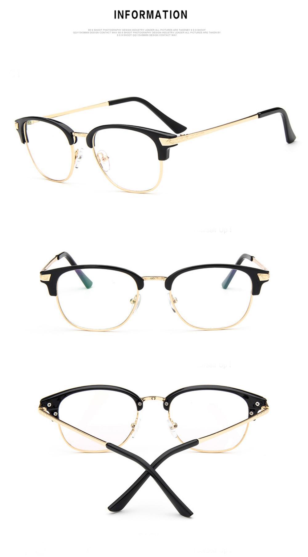 2c629f33cd Brand Retro Spectacle Frames Nerd Eyeglasses Women Vintage Female Clear  Lens Glasses For Men clear frame