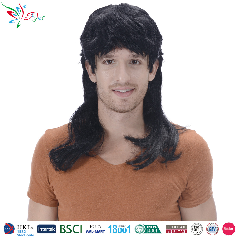 Styler Brand long synthetic hair wigs for man wholesale yiwu party wig