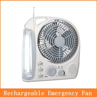 8 inch rechargeable fan light with radio