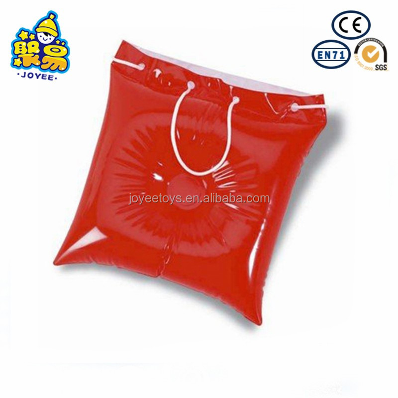 Customized pvc bag inflatable beach pillow bag 36*36cm