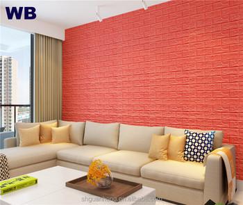 New 3d Pe Foam Faux Brick Wall Sticker Self Adhesive Decorative 3d