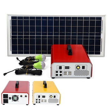 PORTABLE SOLAR POWER SUPPLY HOME SYSTEMS 12V DC 110V 220V AC