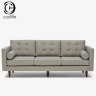 silk living room three seat fabric sofa european