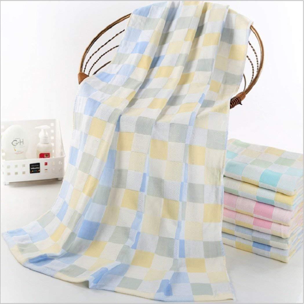 LHFJ Bath Towel 100% Cotton 70140 Kids Bathroom Sheet Soft Absorbent Children Home Bathroom Towel (Color Blue, Pink, Green) (Color : Blue, Size : 70140)