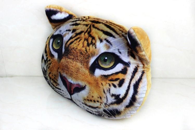 3d Impression Animal Headschair Oreiller 40 Cm 38 Cm Personnalite Coussin De Voiture Ca Creatif En Forme De Chat Sieste Oreiller Buy