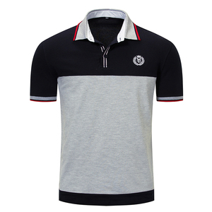 Custom made high quality short sleeve two color polo t shirt custom logo polo shirt