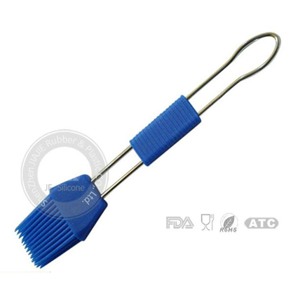 Heat resistance silicone brush with stainless steel handle