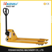 Welding pump hydraulic rough terrain pallet truck with capacity 2 ton for low price