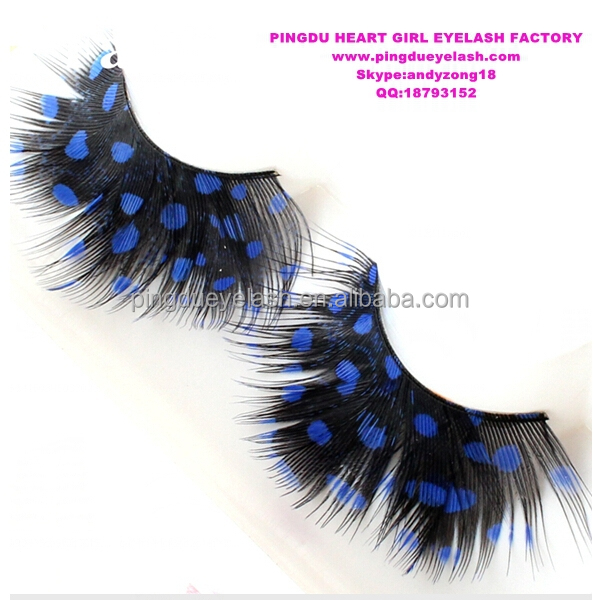 Colorful Real Feather Strip False Eyelashes/ Feather for Eyelash Extensions