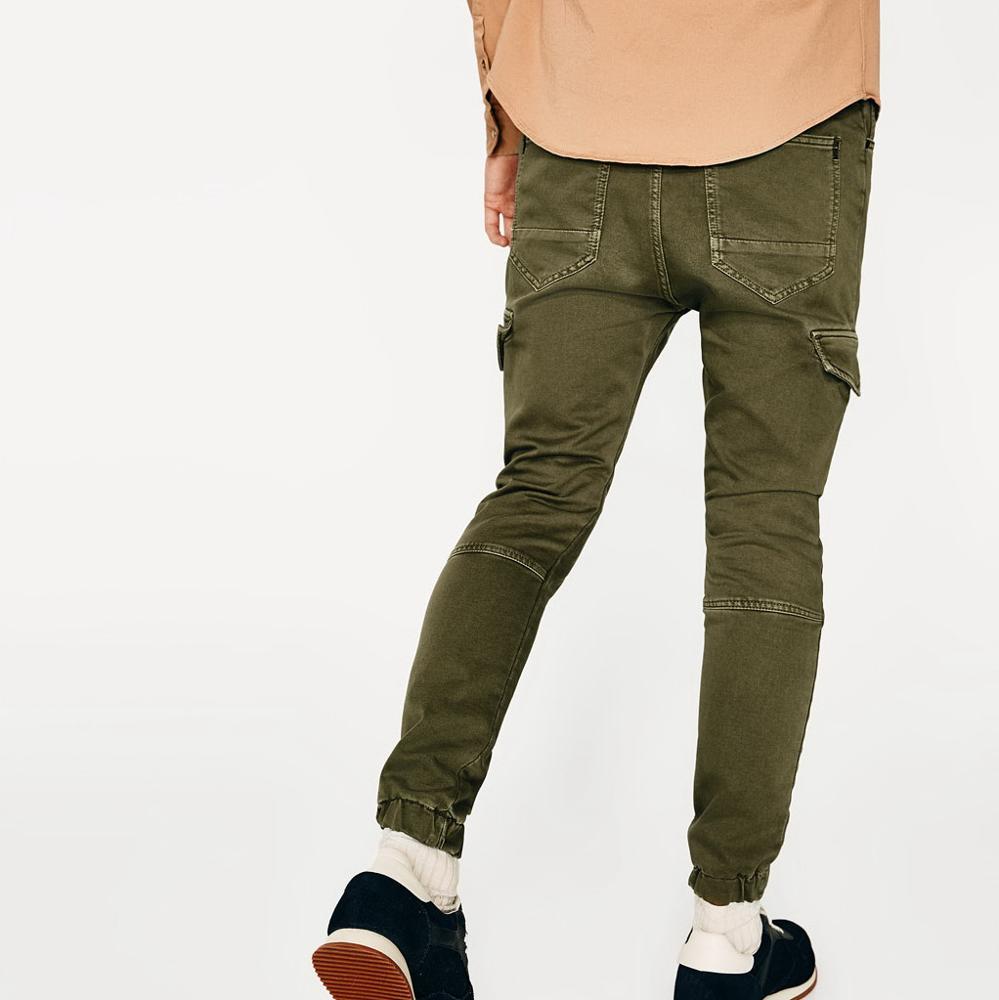 7b5235042c Casual Para Hombre Pantalones De Tobillo Banda Pantalones Carrot Fit ...