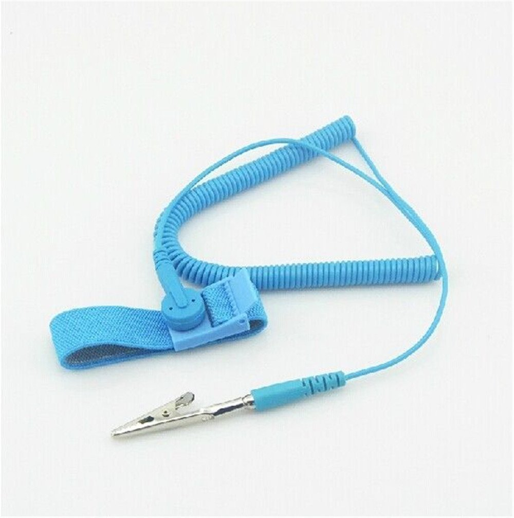 Power Tool Accessories Antistatic Wristband Esd Wrist Strap Blue Metal Discharge For Electrician Ic Plcc Worker Antistatic Bracelet Free Shipping Attractive Fashion