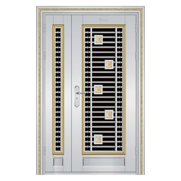 Unequal Double Stainless Steel Grill Door Design Buy Stainless