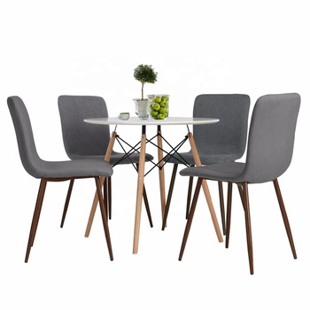Fabric Cushion Kitchen Chairs with Sturdy Metal Legs for Dining Room Grey  sc 1 st  Alibaba & Fabric Cushion Kitchen Chairs With Sturdy Metal Legs For Dining Room ...