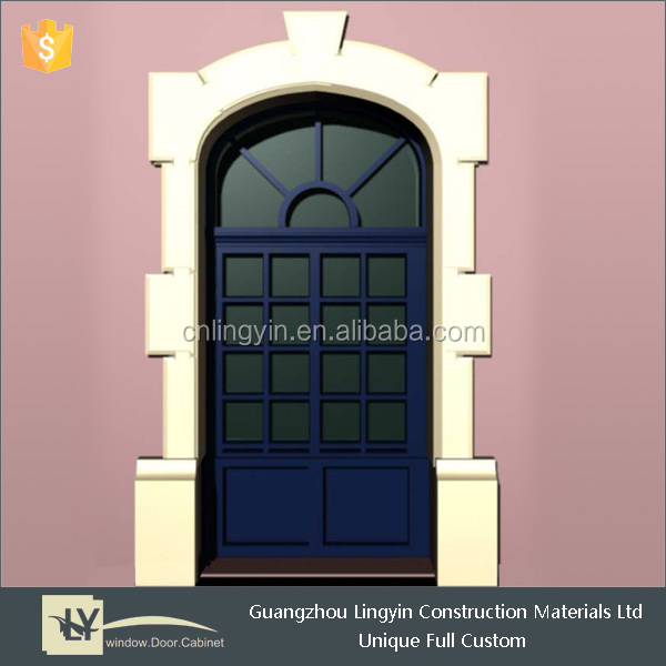 European Style Steel Fixed Arch Window And Door With Grill Design ...