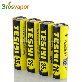 In Stock!!!18650 high discharge rate battery cells 18650 3.7V Li ion Rechargeable Battery Tesiyi 2800mAh Capacity 35amp battery