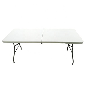 hot sale 6 ft plastic camping picnic dining folding foldable table