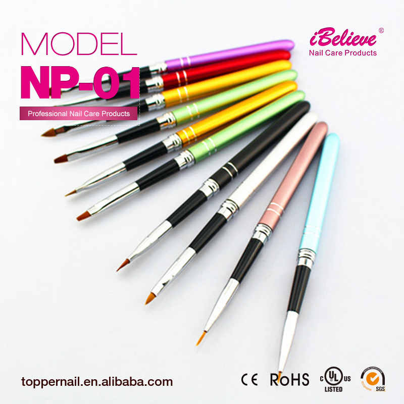 Top quality nail art pen set 3d gel nail polish brush