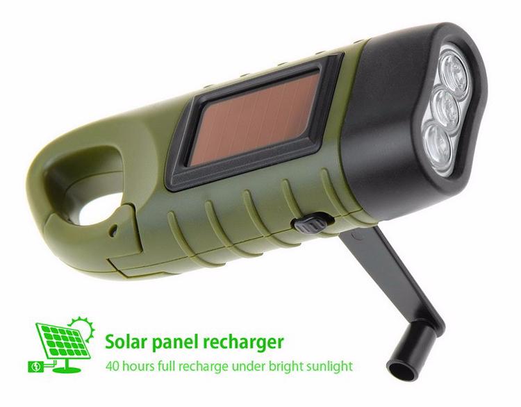 De Carga La Para Luz Linterna Poderosa Recargable Mini Mano Manivela Al Emergencia Lámpara Dinamo Acampar Solar Led bvgf7yY6