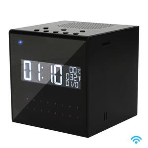 Home Security Wireless Camera Bluetooth Speaker Clock WIFI Camera With Nightvision Motion Detection Loop