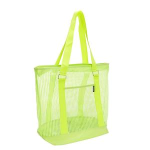 Fancy zipper small shopping string nylon mesh bag