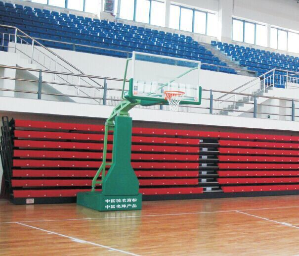 Municipal garden electric hydraulic basketball stand