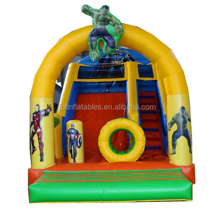 2019 party rental double lanes inflatable plain slide for sale