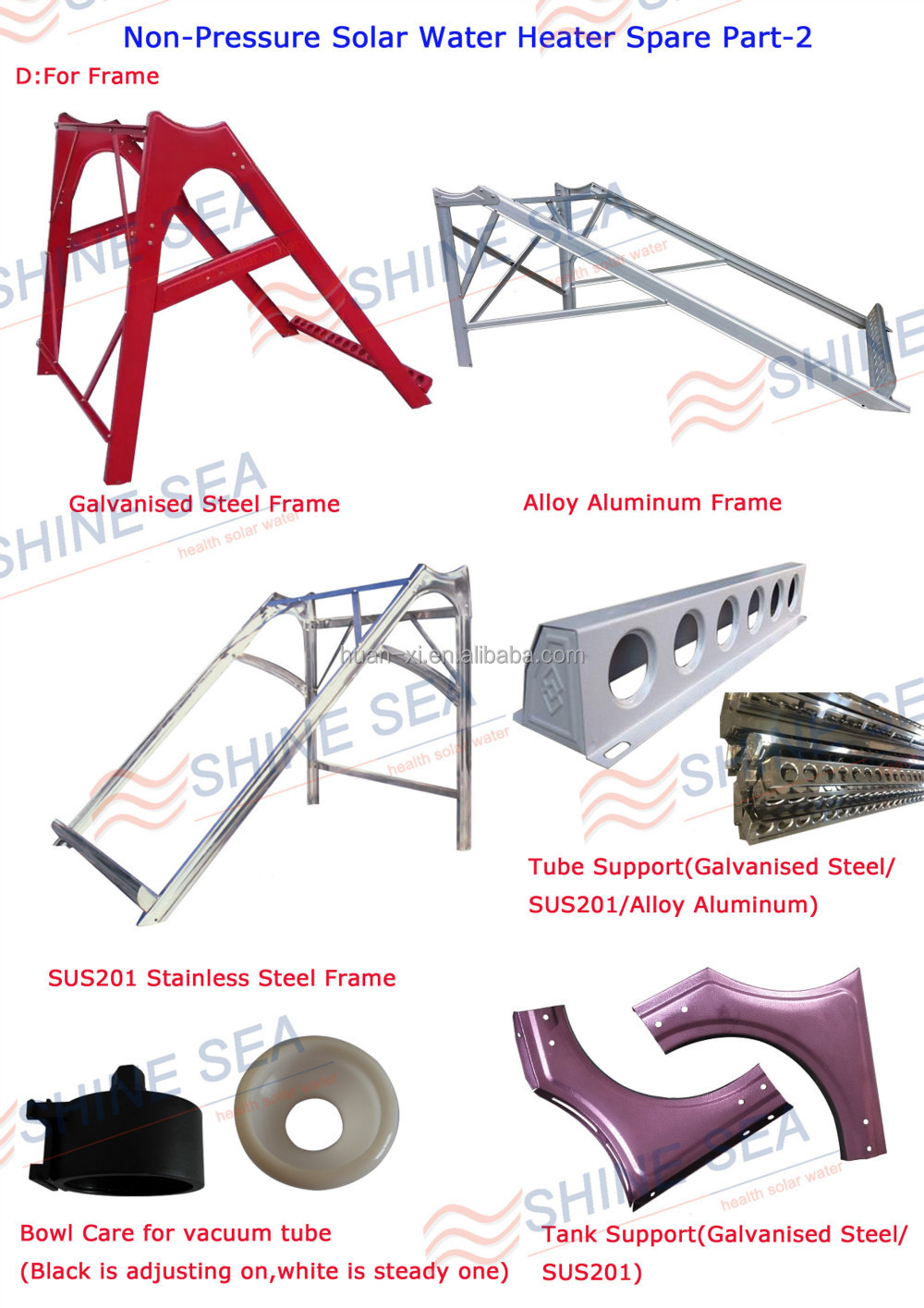 Solar Water Heater Parts Solar Water Heater Side Covers