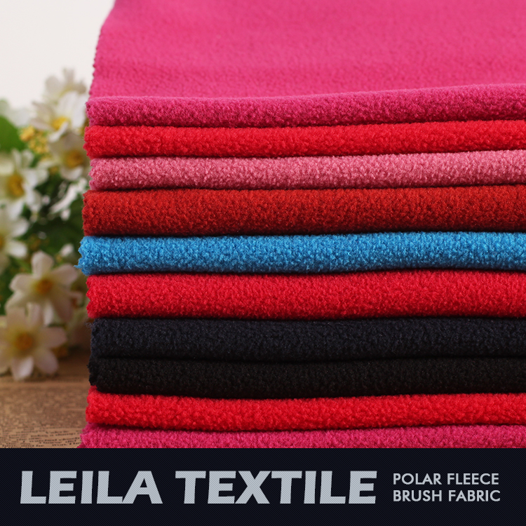 DTY mciro Polar Fleece two side brush one side antipilling Fabric customize polyester knittined fabric for Spain market