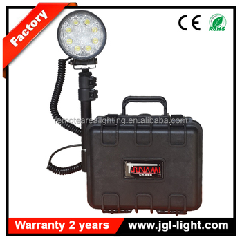 12v Battery Ed Search Work Light Remote Outdoor Led Mining Flood Portable Construction Handheld Marine
