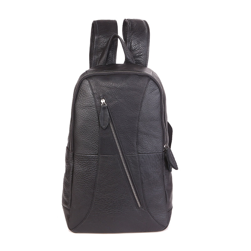 7350A JMD Black Custom Top Soft Genuine Leather Back Pack for Men