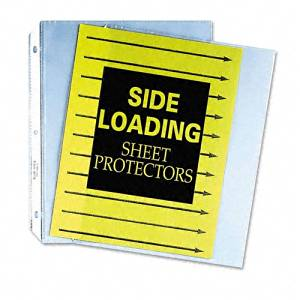 C-Line Products, Inc. Products - Side-Loading Sheet Protectors, 8-1/2amp;quot;x11amp;quot;, 50/BX, Clear - Sold as 1 BX - Sheet protectors are sealed on three sides like top-loading protectors, but papers are inserted from the ring binding edge. Side-loading design keeps high-use materials from