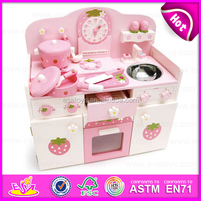 2015 new arrival kid wooden kitchen toy set children diy for Funny kitchen set