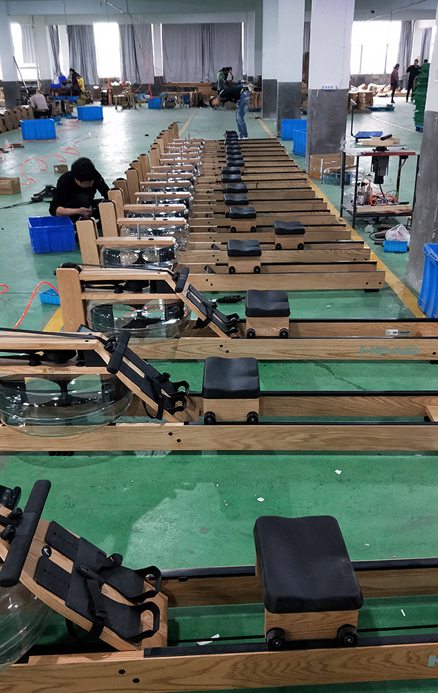 fitness Gym equipment luxury wooden frame magnetic rower rowing machine